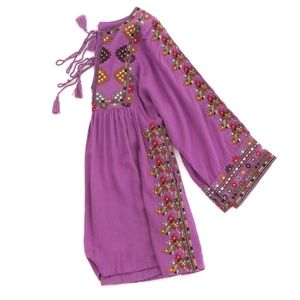 Free People Purple Boho Tunic mini Dress SZ XS